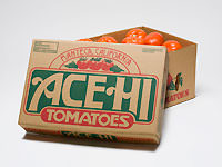 Box full of Delta ACE HI California Tomatoes